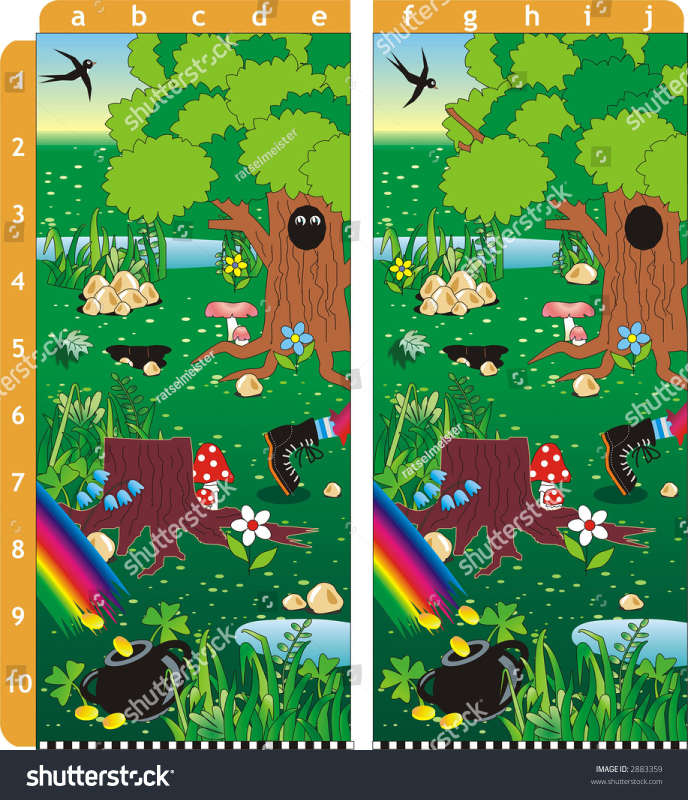 St Patrick S Day Spot Ten Differences Puzzle Answer A1