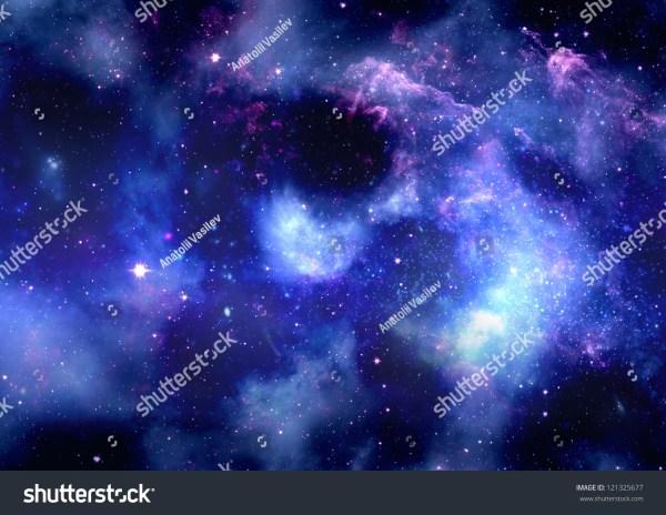 Stars Planet Galaxy Free Space Stock Illustration