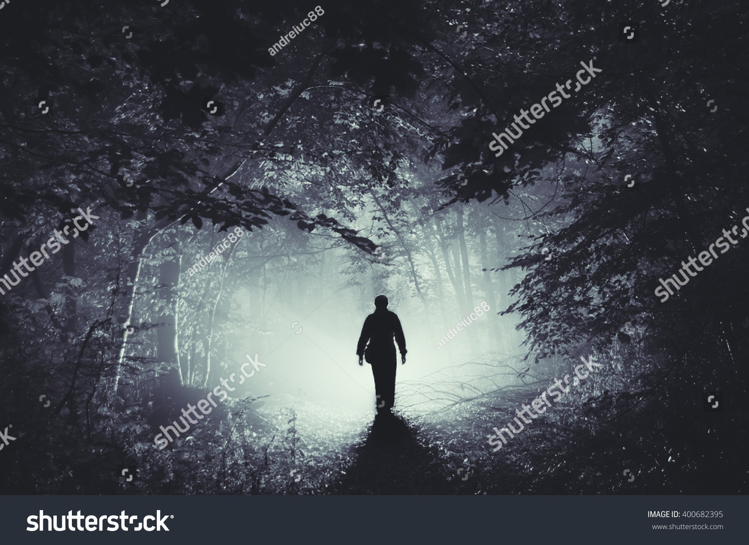 Not to be completely negative about this episode, i did like the background renderings on fisto's part of the forest. Surreal Light Dark Forest Man Silhouette Stock Photo Edit Now 400682395