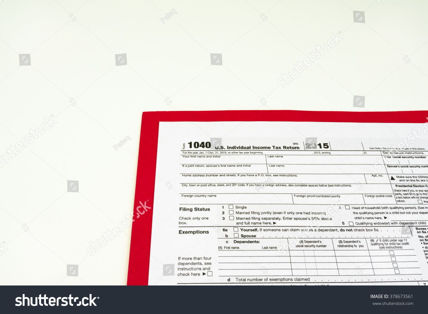Tax Form Tax Form Details Stock Photo