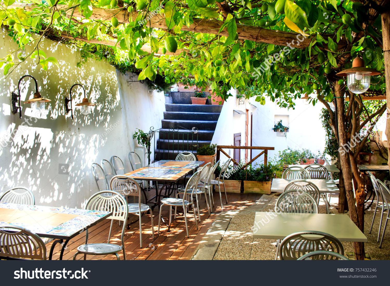 https www shutterstock com image photo terraced patio italian restaurant under lemon 757432246