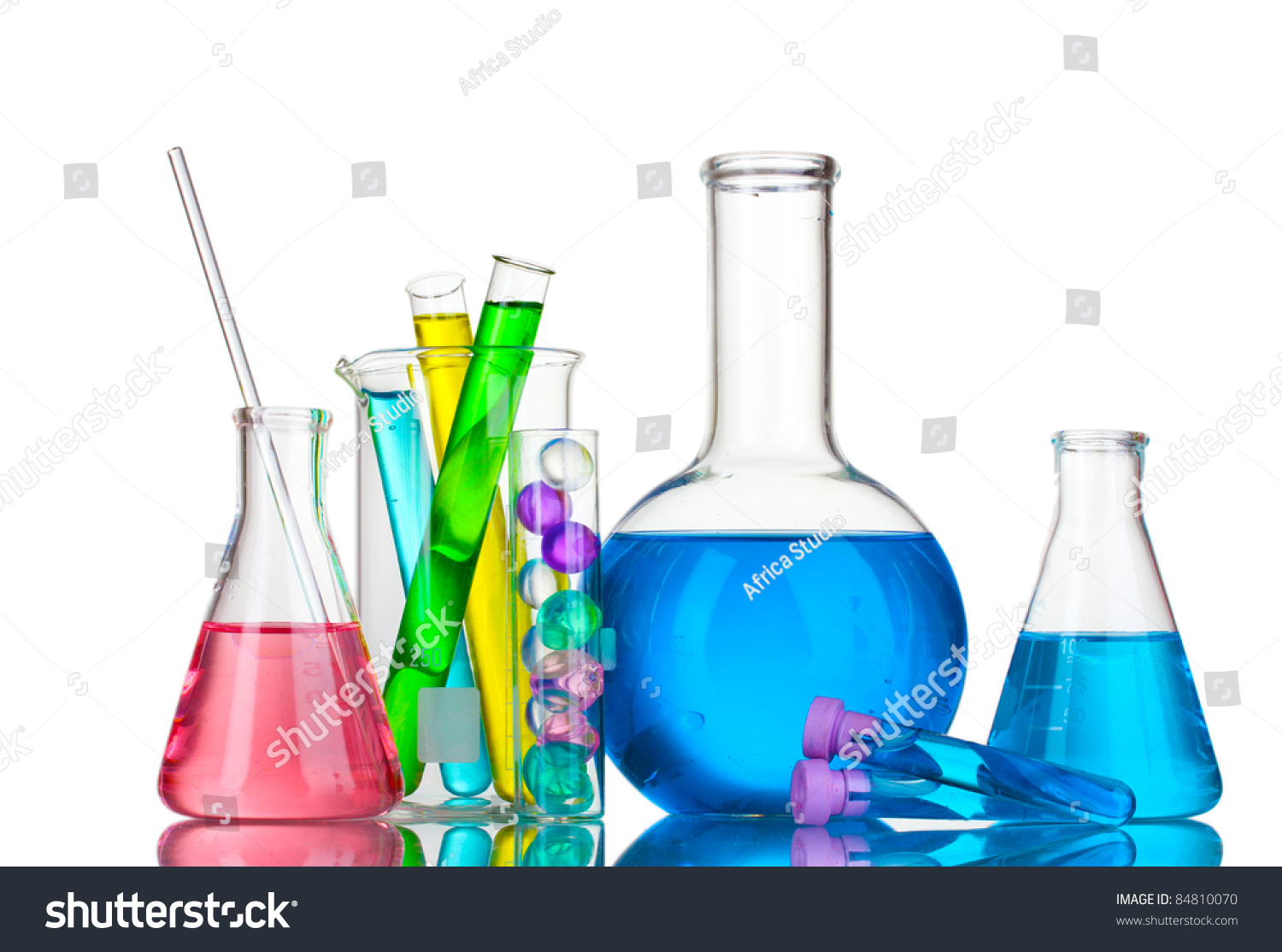 Test-Tubes With Liquid On Gray Background Stock Photo 84810070 : Shutterstock
