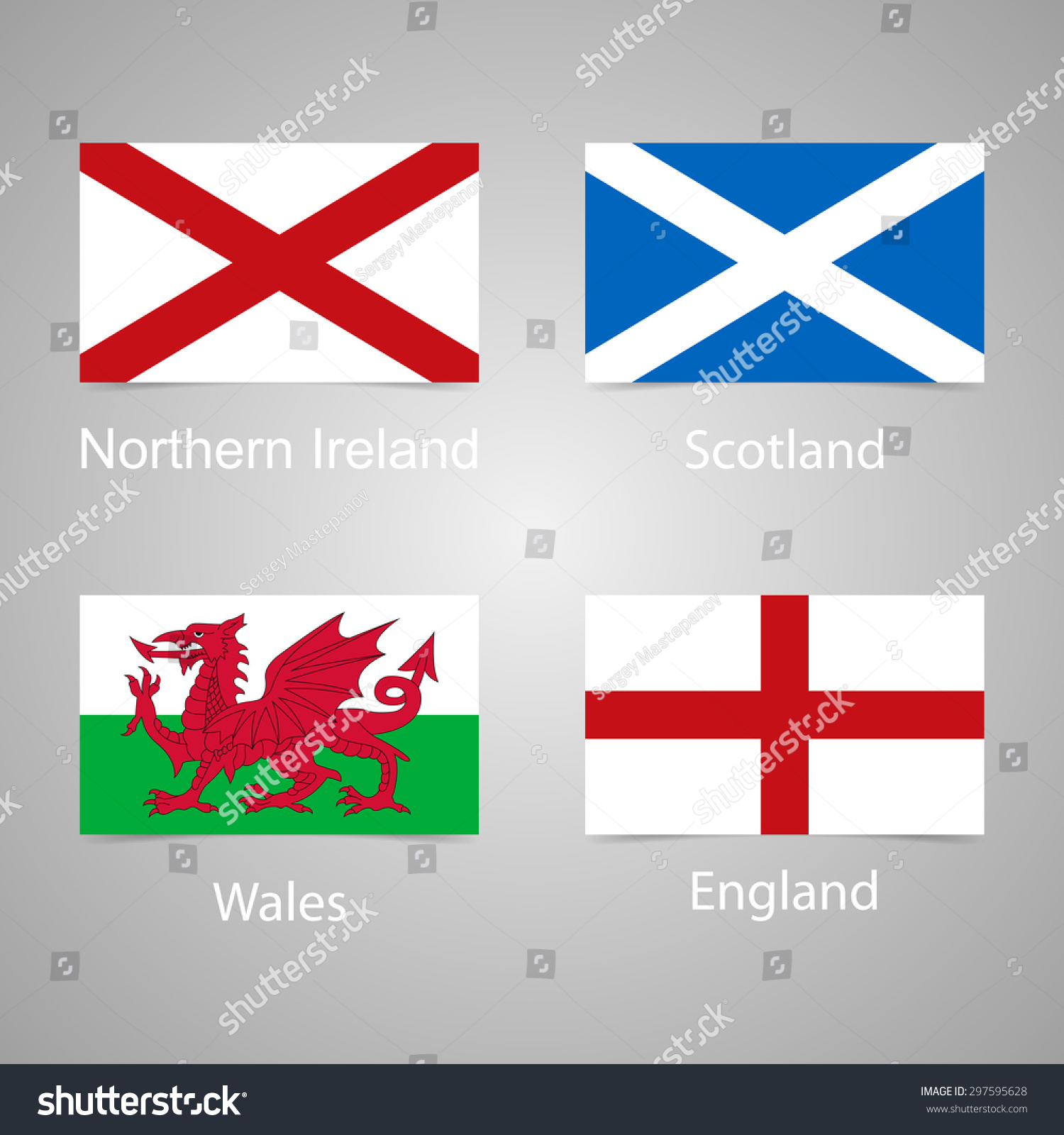The Flags Of England Scotland Wales And Northern Ireland