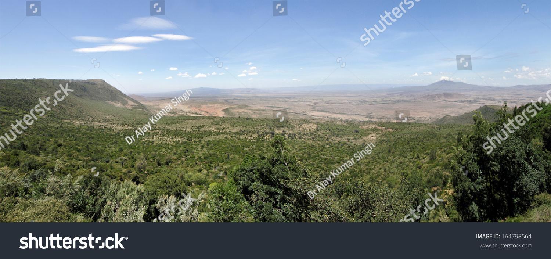 Great Rift Valley Kenya Volcano Mt Stock Photo 164798564