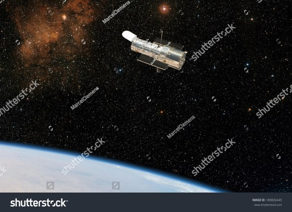 The Hubble Space Telescope Observes Deep Space While In ...