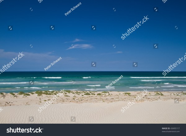 The North Coast Under Blue Sky Of The Tropical Cabo Verde ...