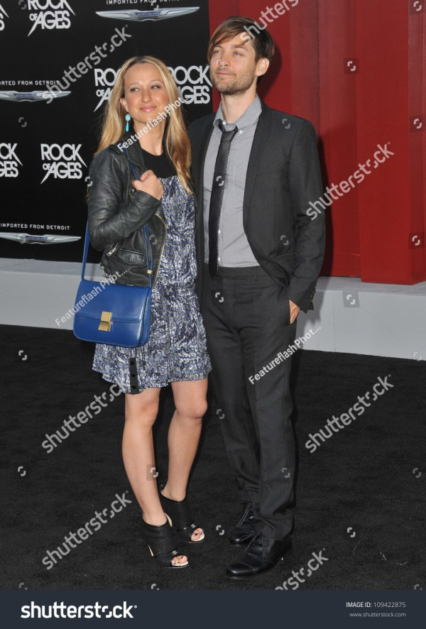 """Tobey Maguire & Date At The World Premiere Of """"Rock Of ..."""
