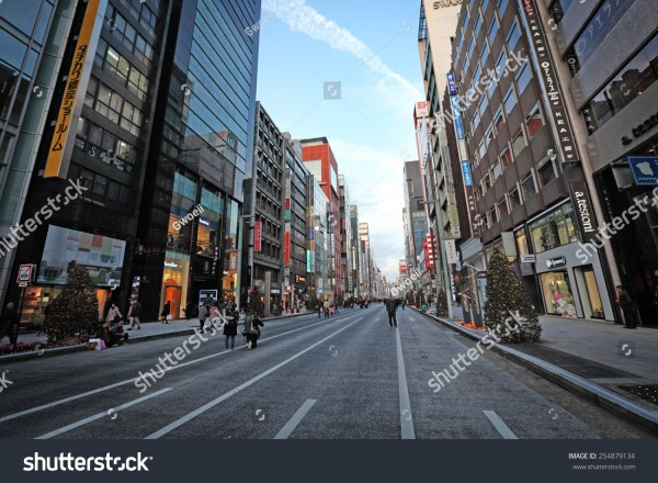 Tokyo - December 21, 2014: Shoppers On The Main Street At ...