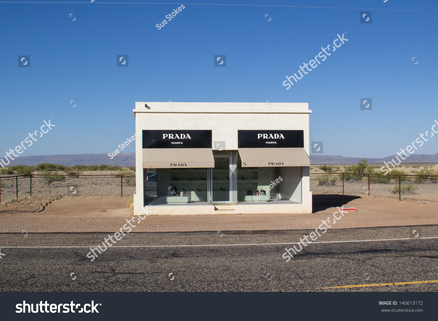 ValentineTxUsa May 30 The Marfa Prada Sculpture Sits On