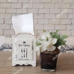 Vintage Napkin Holder Artificial Flowers On Stock Photo Edit Now 523262893