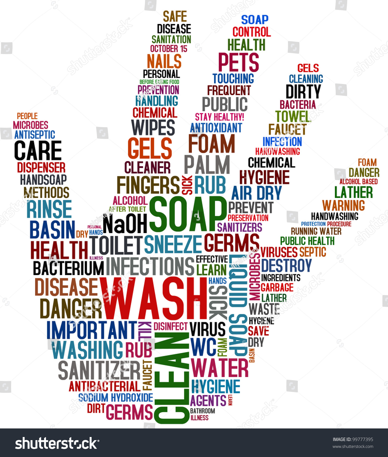 Wash Your Hands Stock Illustration
