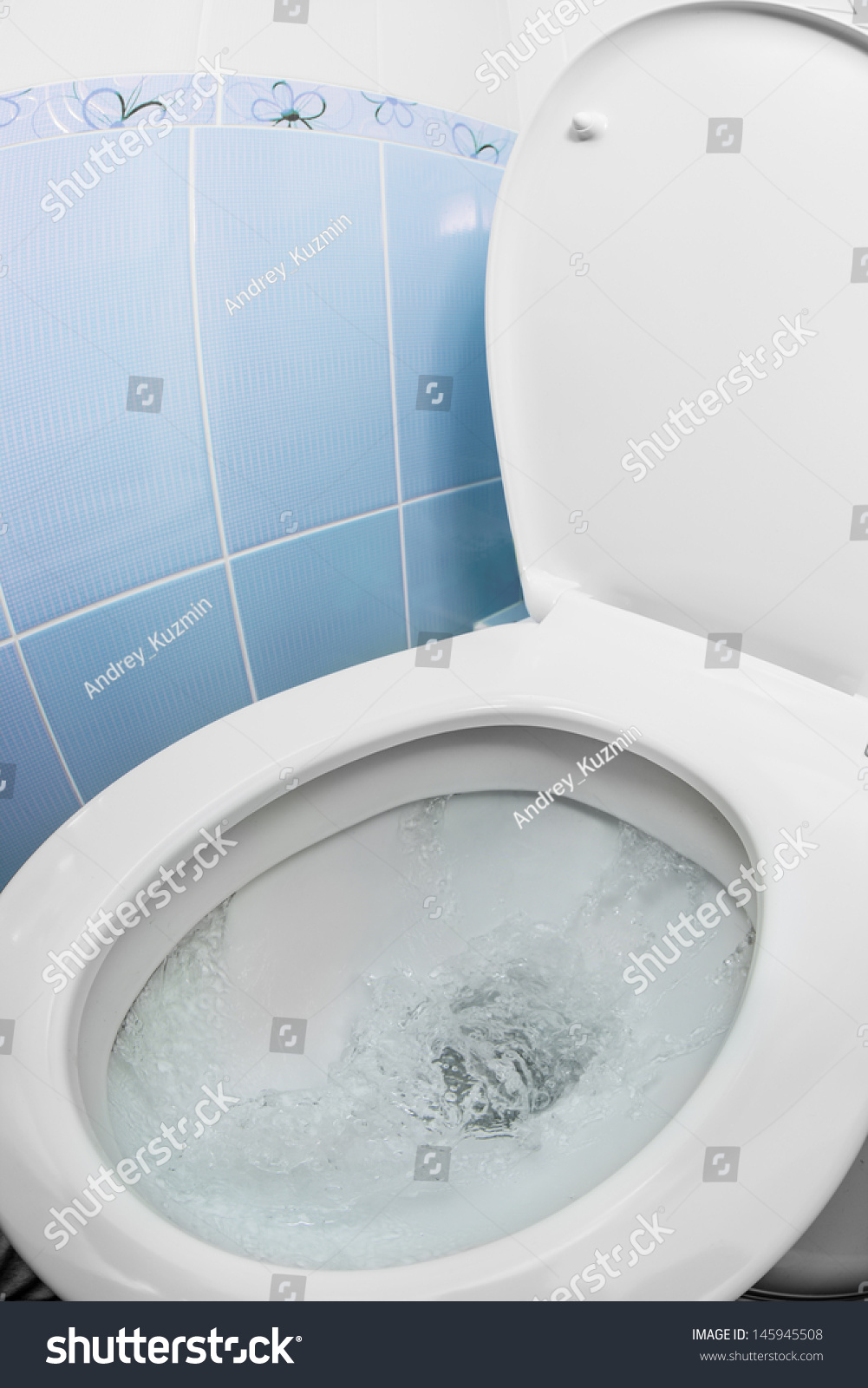 Water Flushing In Toilet Bowl Or Sink Or Wc Stock Photo 145945508 : Shutterstock