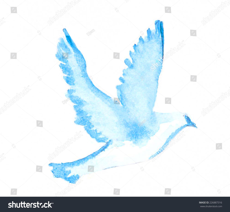 Drawn Dove Peace Symbol Pencil And In Color Drawn Dove
