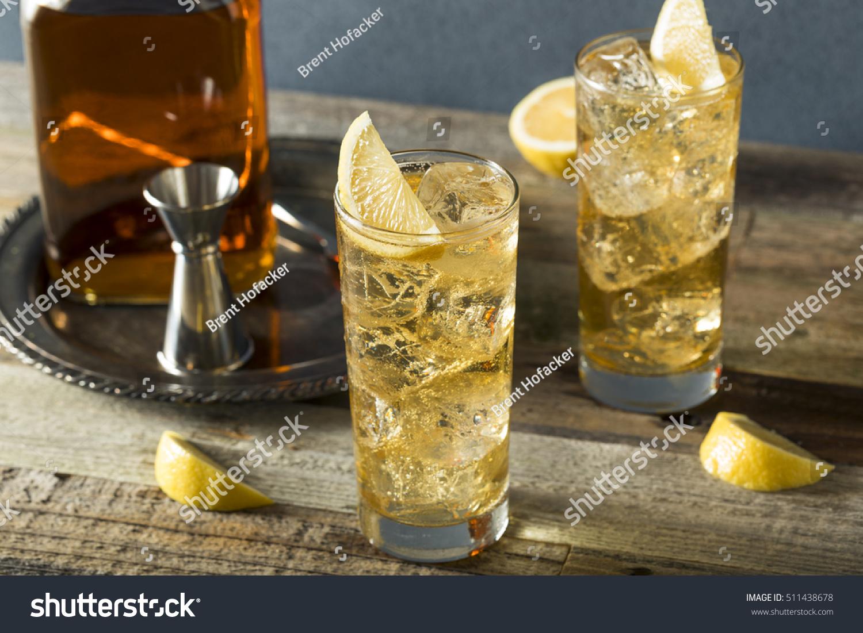 Whiskey Highball Ginger Ale Lemons Stock Photo 511438678 - Shutterstock