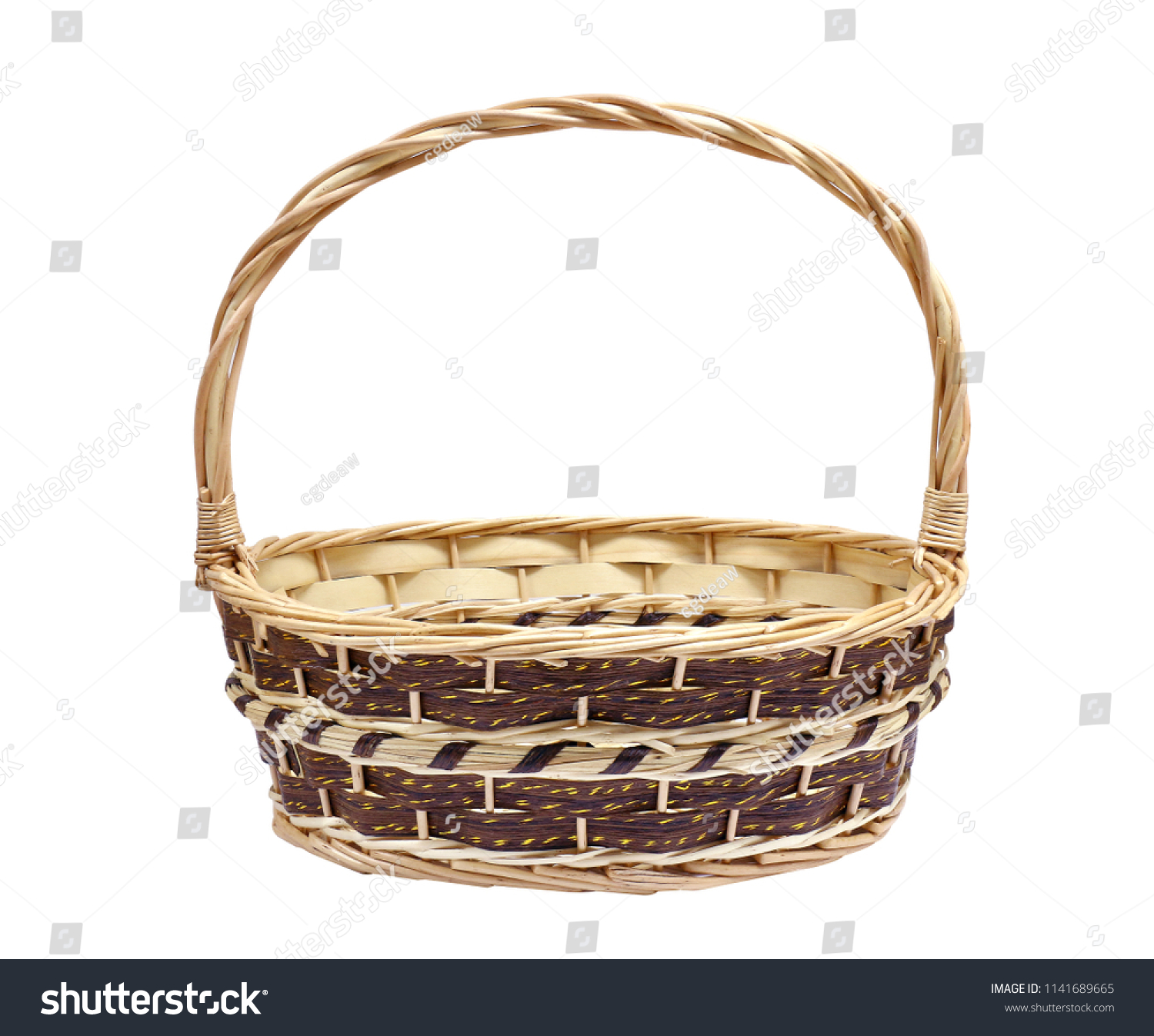 Wicker Baskets Gift Set Pack Crafts Stock Photo Edit Now 1141689665