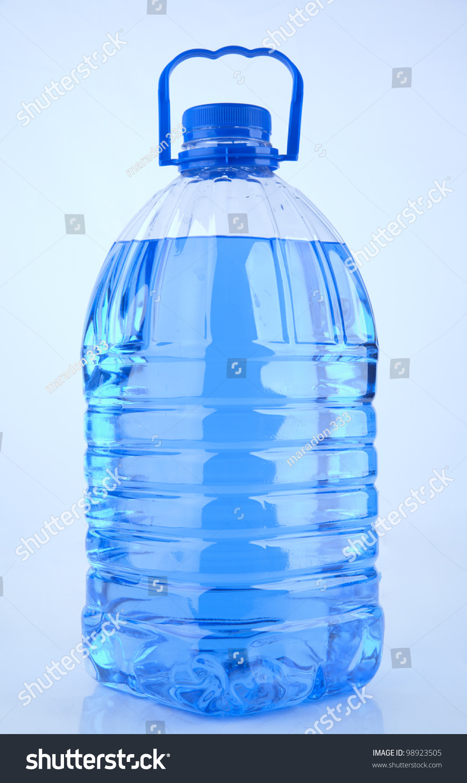 Windshield Washer Fluid Isolated On White Background Plastic Blank Container Filled With Blue Liquid Stock Photo 98923505 : Shutterstock