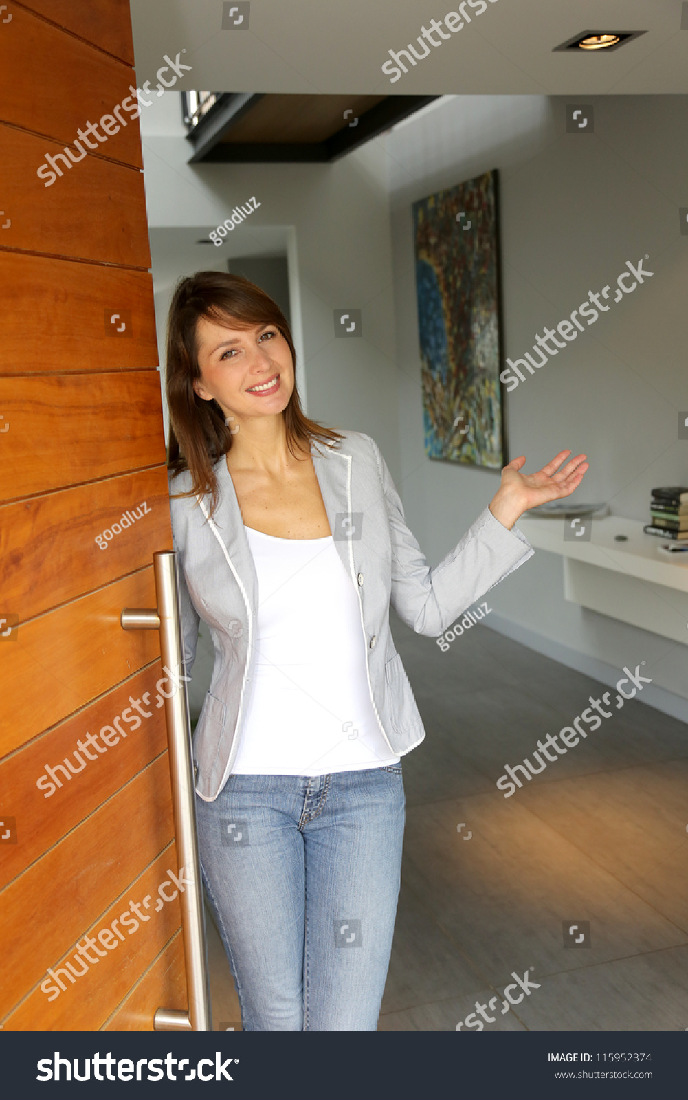 Image result for a lady opening the door