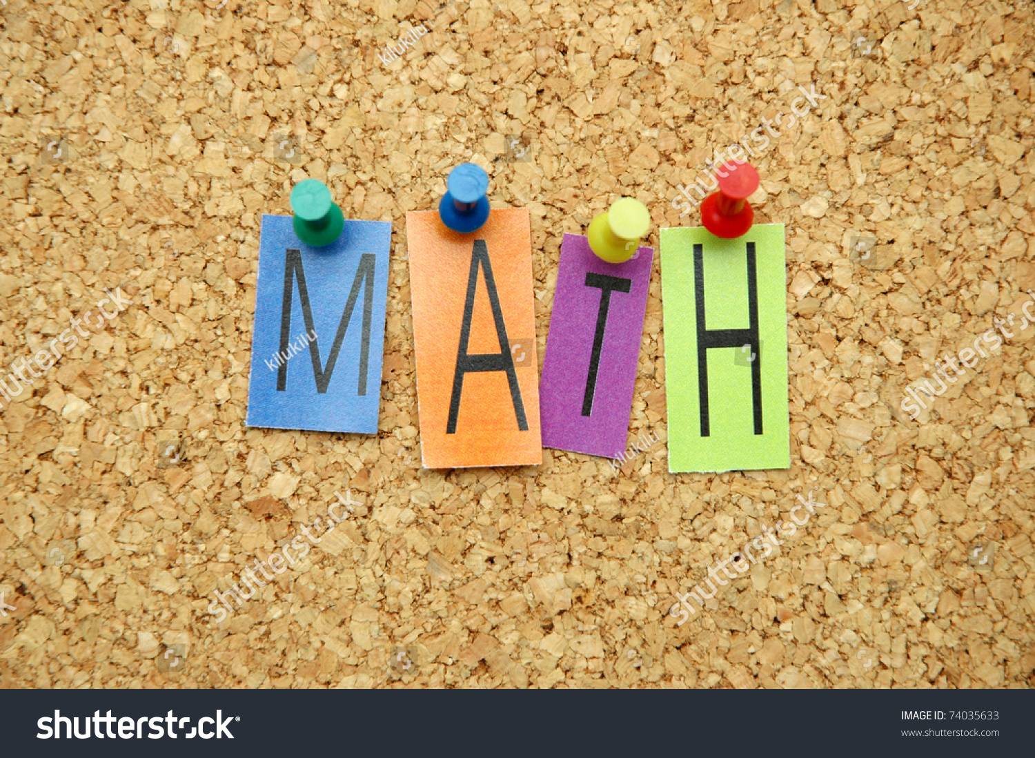 The Word Math In Letters