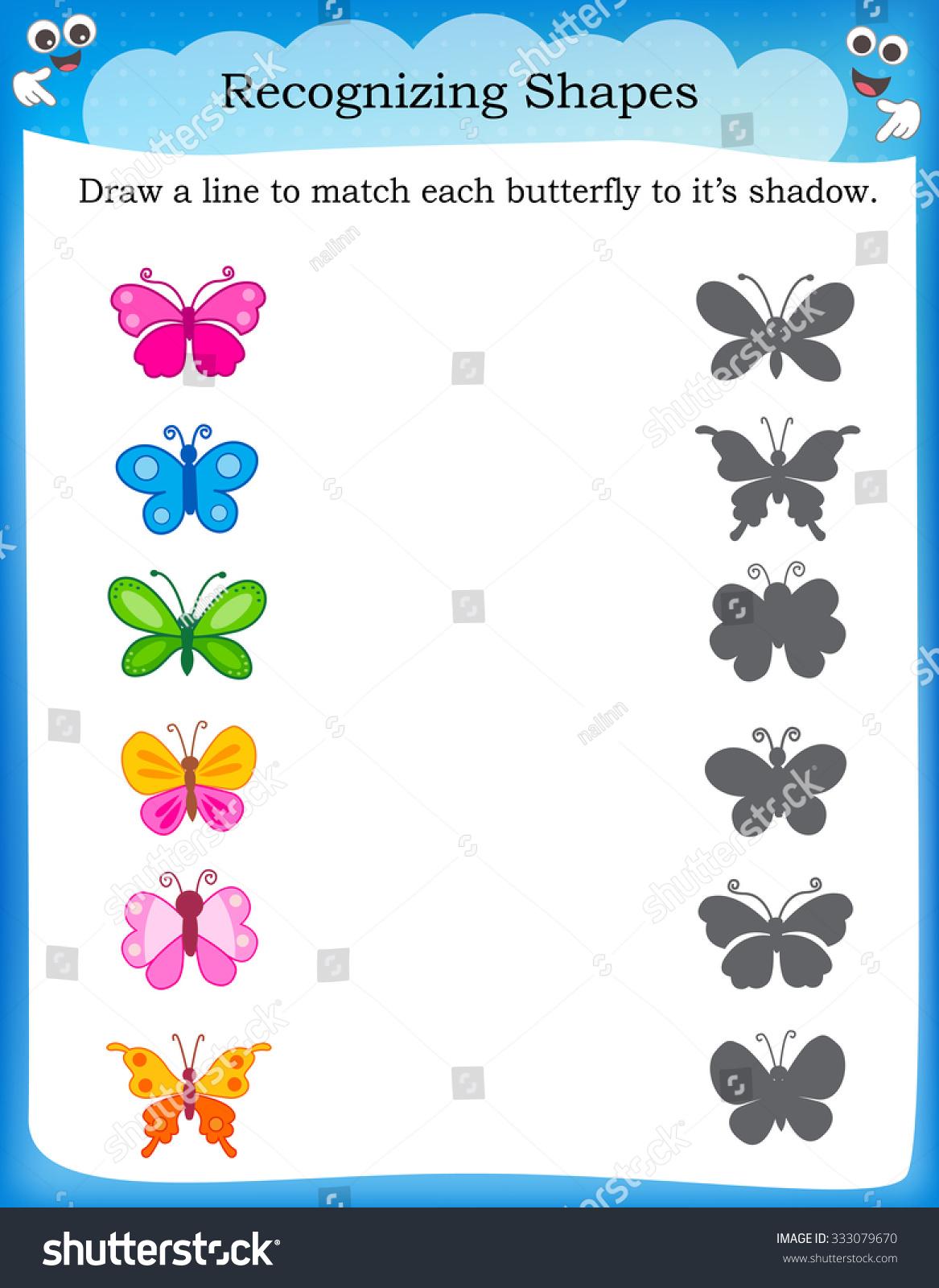 Shadow Matching Worksheet Printable
