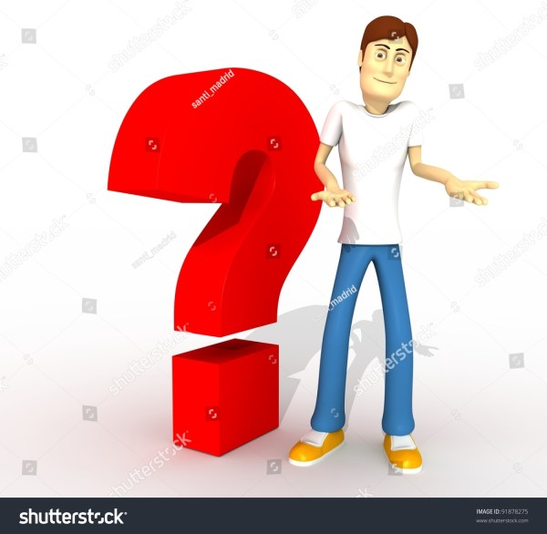 Young Boy With Question Tag Whole Body Stock Photo ...