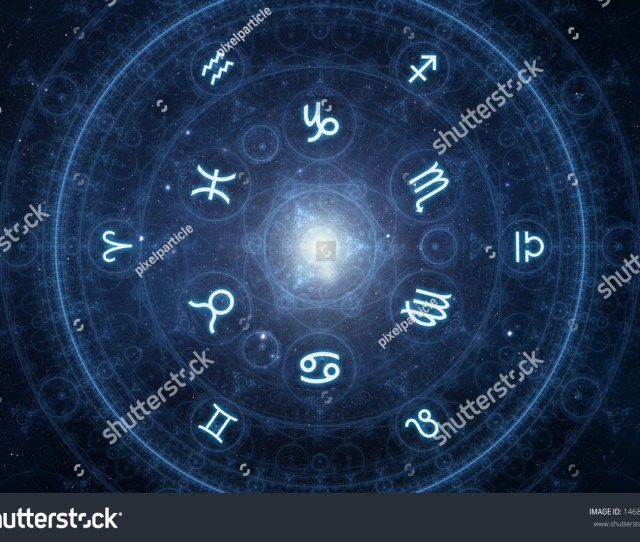 Zodiac Signs New Age Horoscope With Universe Space And Stars