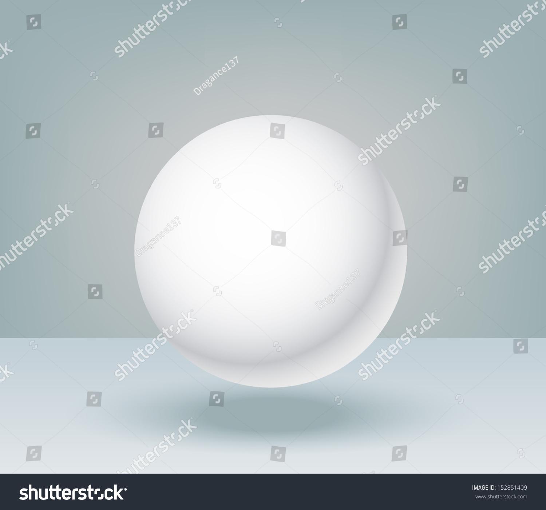 3d Illustration Basic Geometric Shapes Blank Sphere