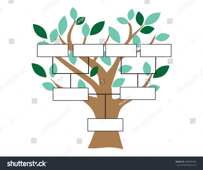 Family Tree Stylized Tree Basic Family Stock Vector