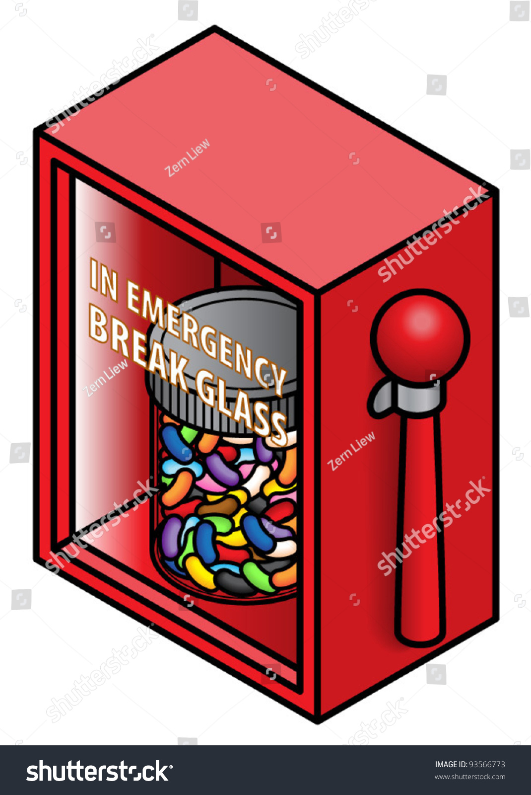 In Emergency Break Glass And Grab That Jar Of Yummy Jelly Beans Concept Candy Will Fix
