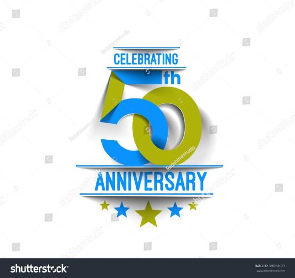 50th Years Anniversary Celebration Design Stock Vector ...