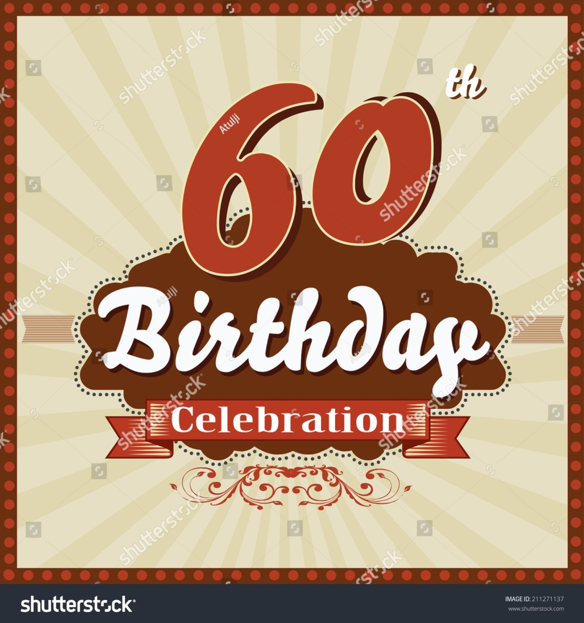 Download 60 Years Celebration 60th Happy Birthday Stock Vector ...