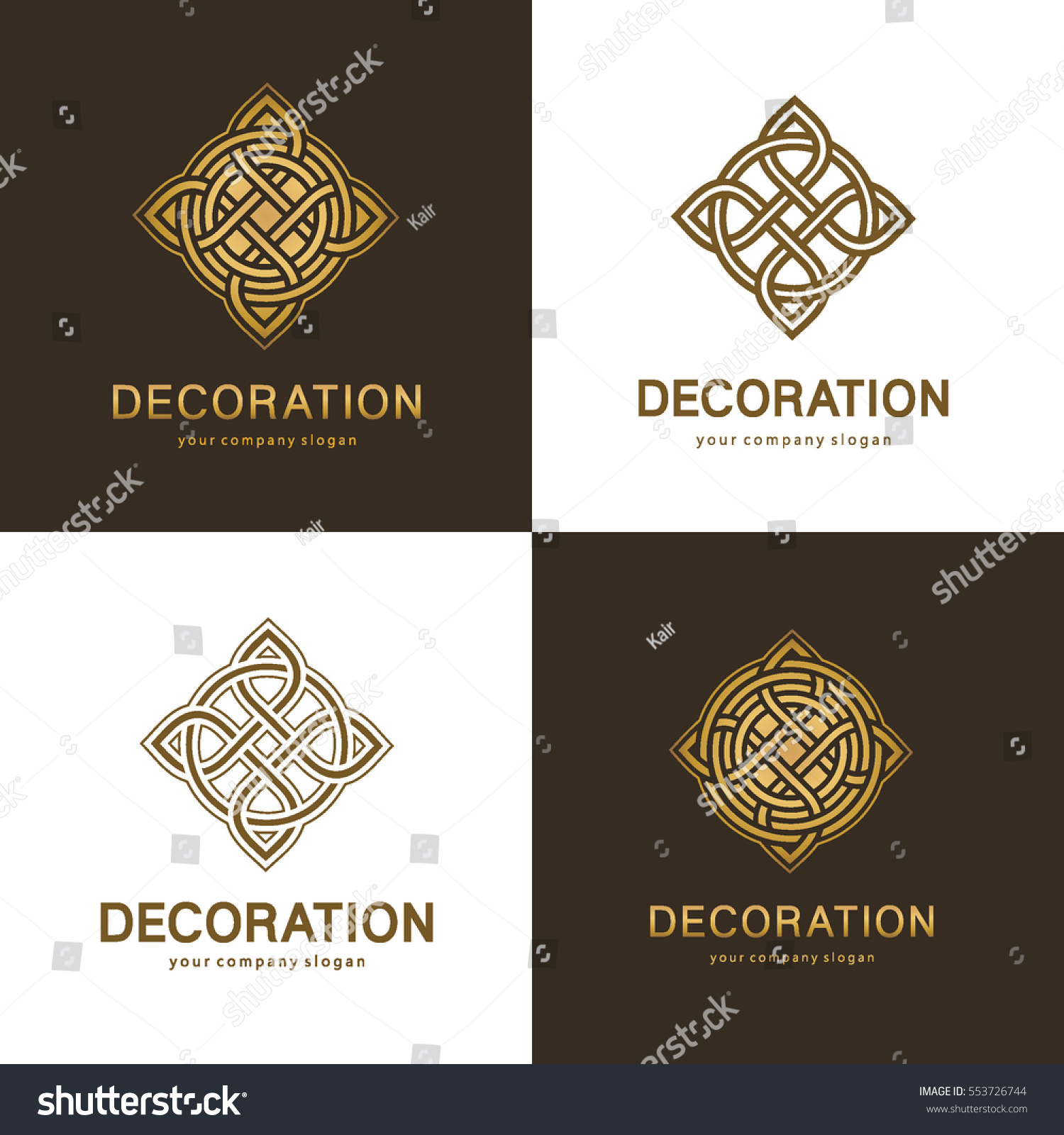 Collection Logos Interior Furniture Shops Decor Stock