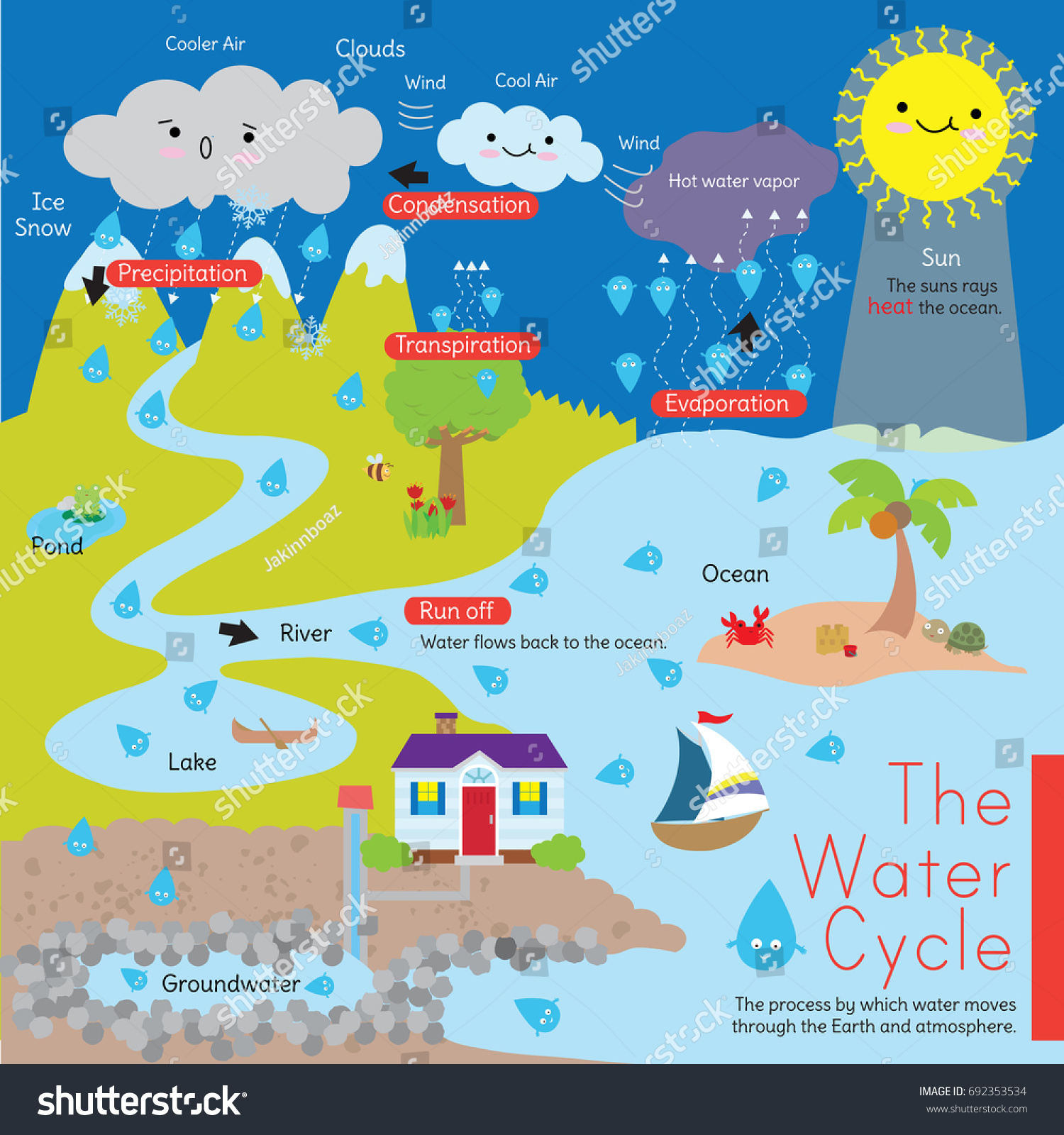 Hydrological Cycle Diagram Worksheet