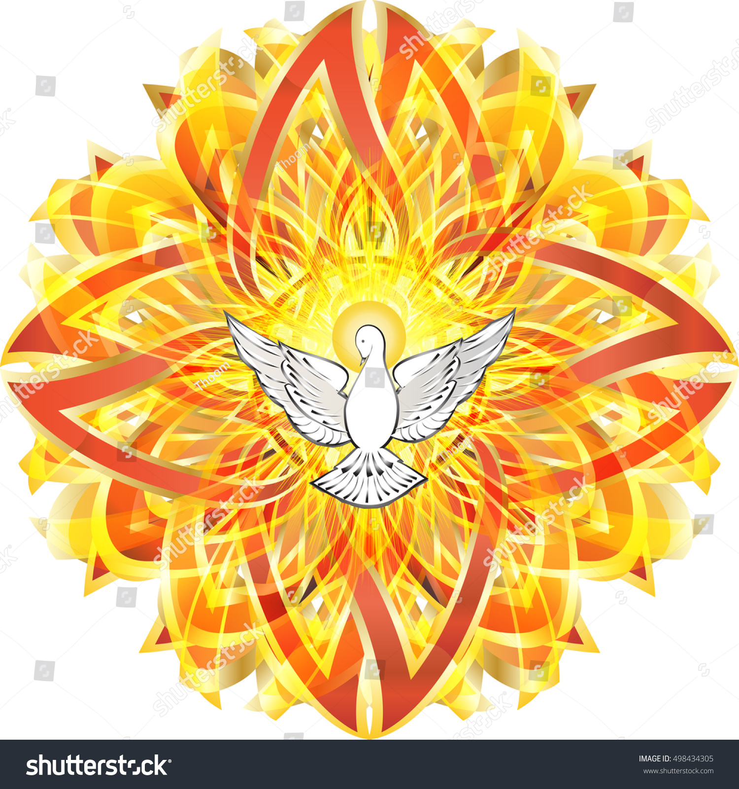 Dove Symbol Holy Spirit Celtic Style Stock Vector