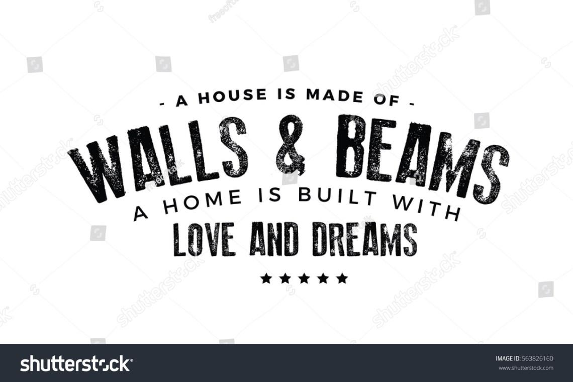 Download House Made Walls Beams Home Built Stock Vector 563826160 ...
