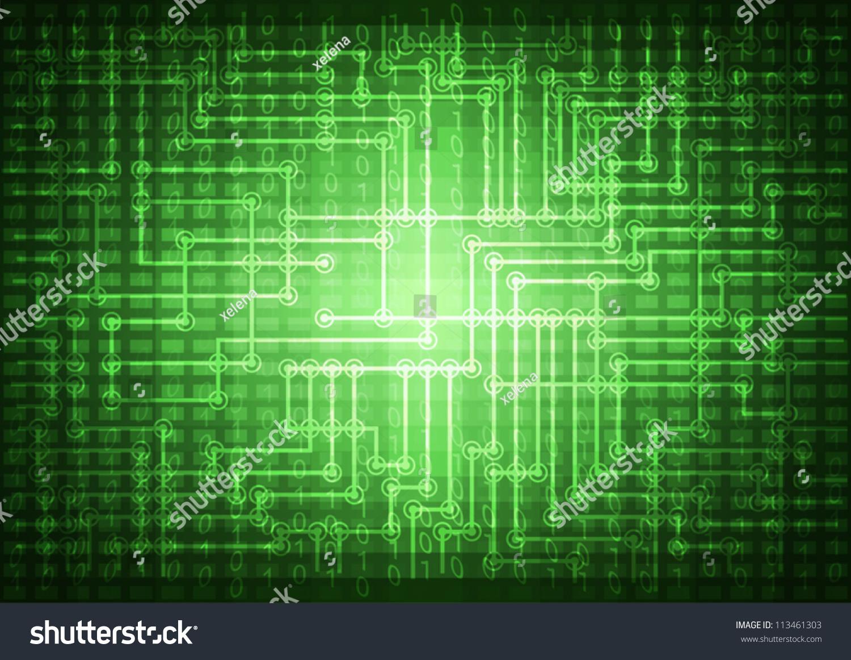Eye Circuit Board Wallpaper Binary Code On