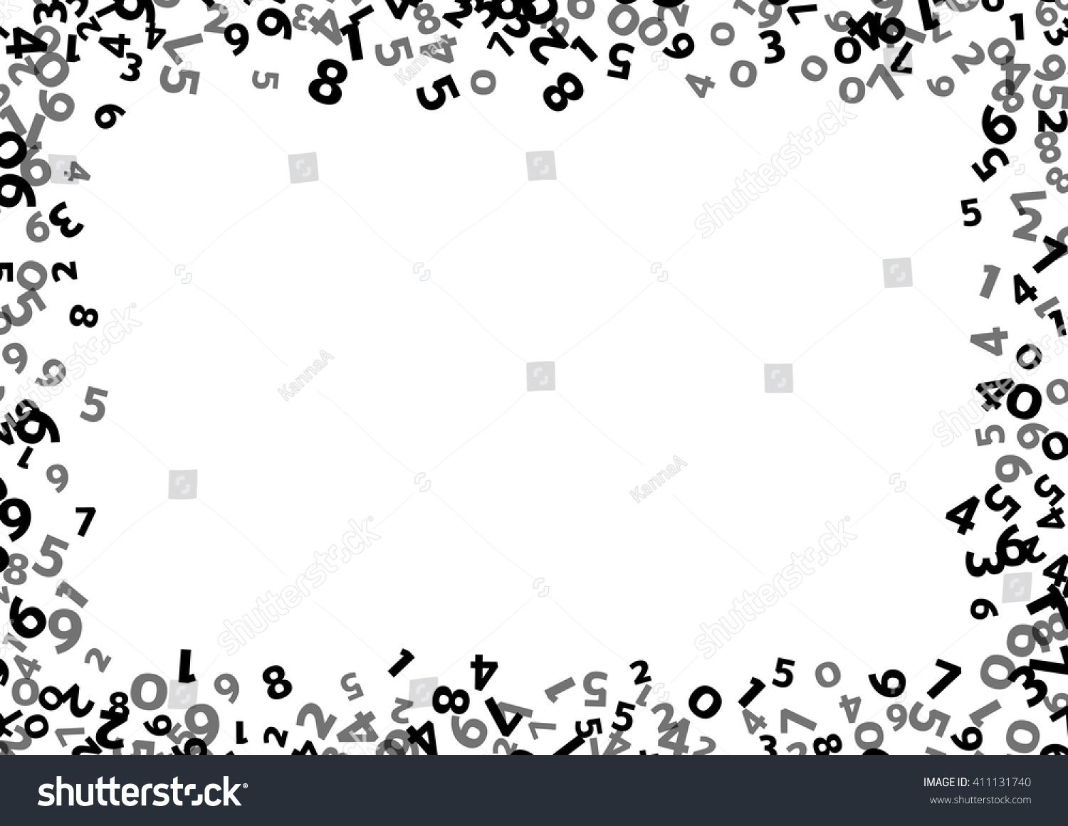 Abstract Math Number Background Vector Number Stock Vector