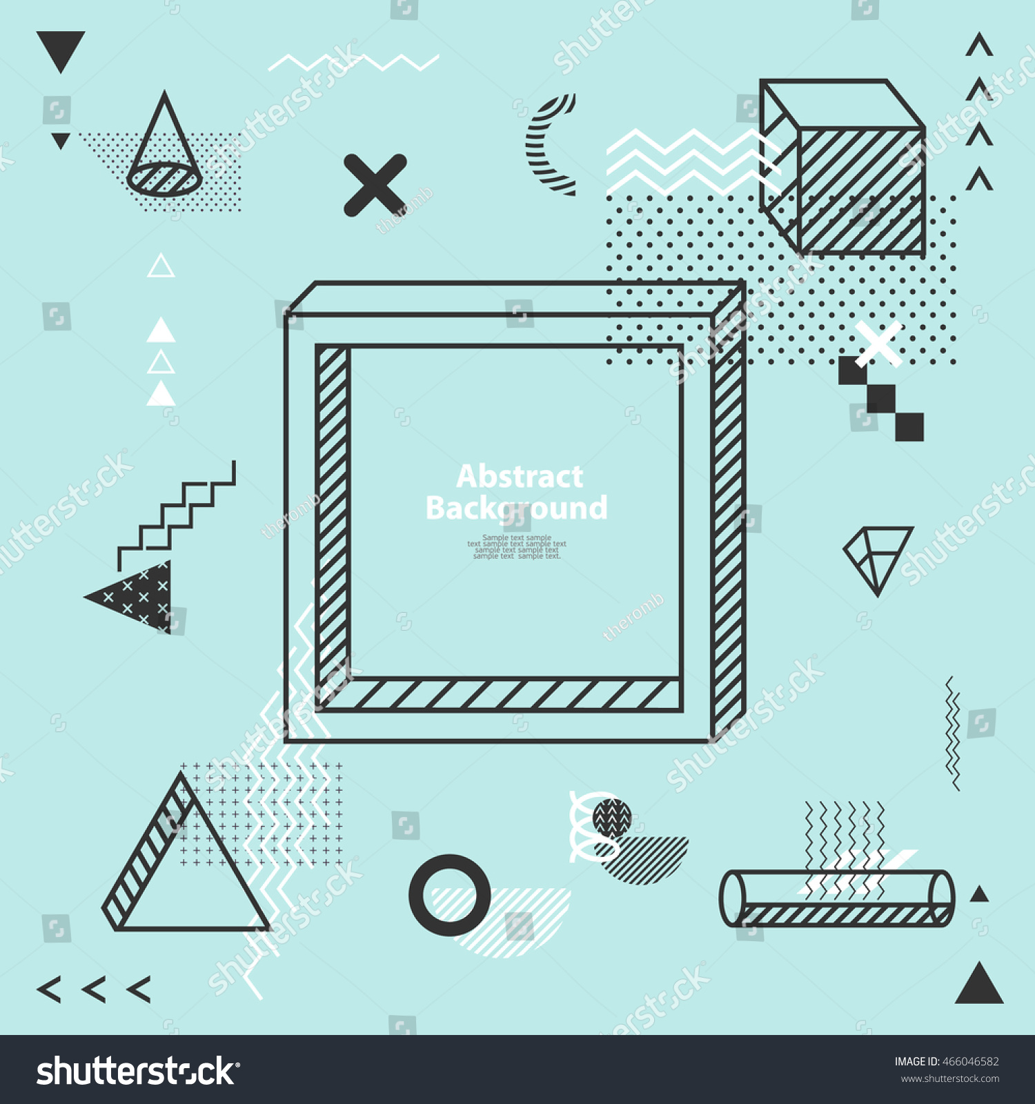 Abstract Minimalistic Flat Background Stock Vector