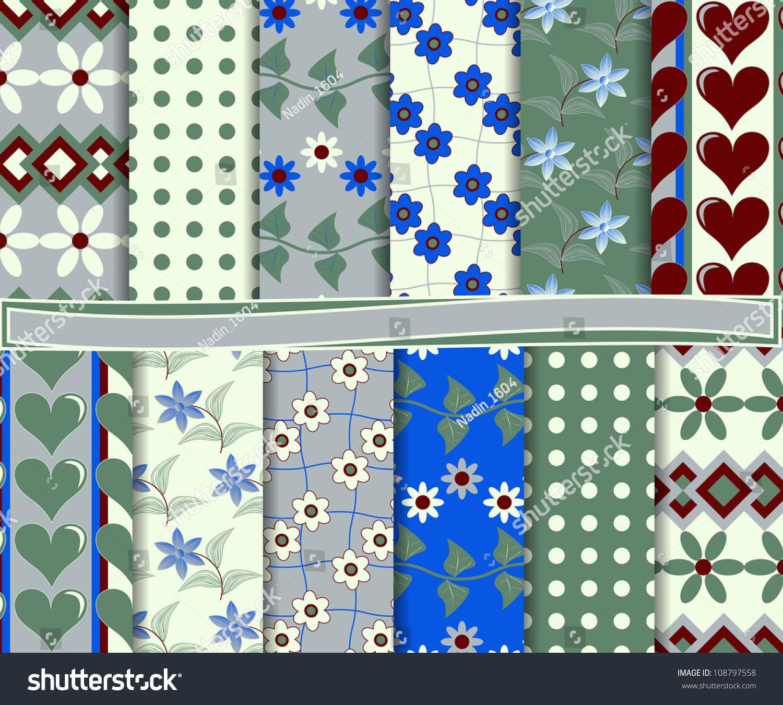 Abstract Vector Set Of Scrapbook Paper - 108797558 : Shutterstock