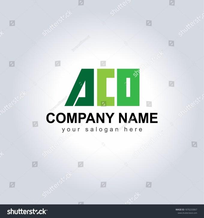 Aco Letter Logo Template Vector Icon Stock Vector Royalty Free 1870233067