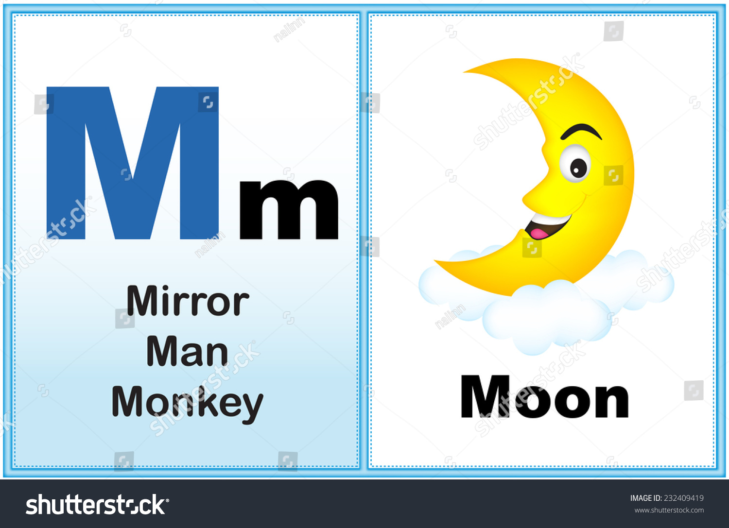 Alphabet Letter M With Clip Art And Few Similar Words