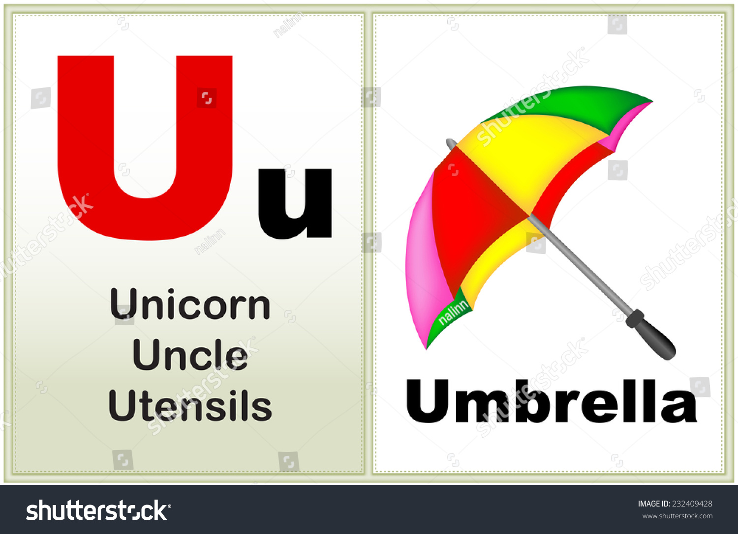 Alphabet Letter U Clipart Few Similar Stock Vector