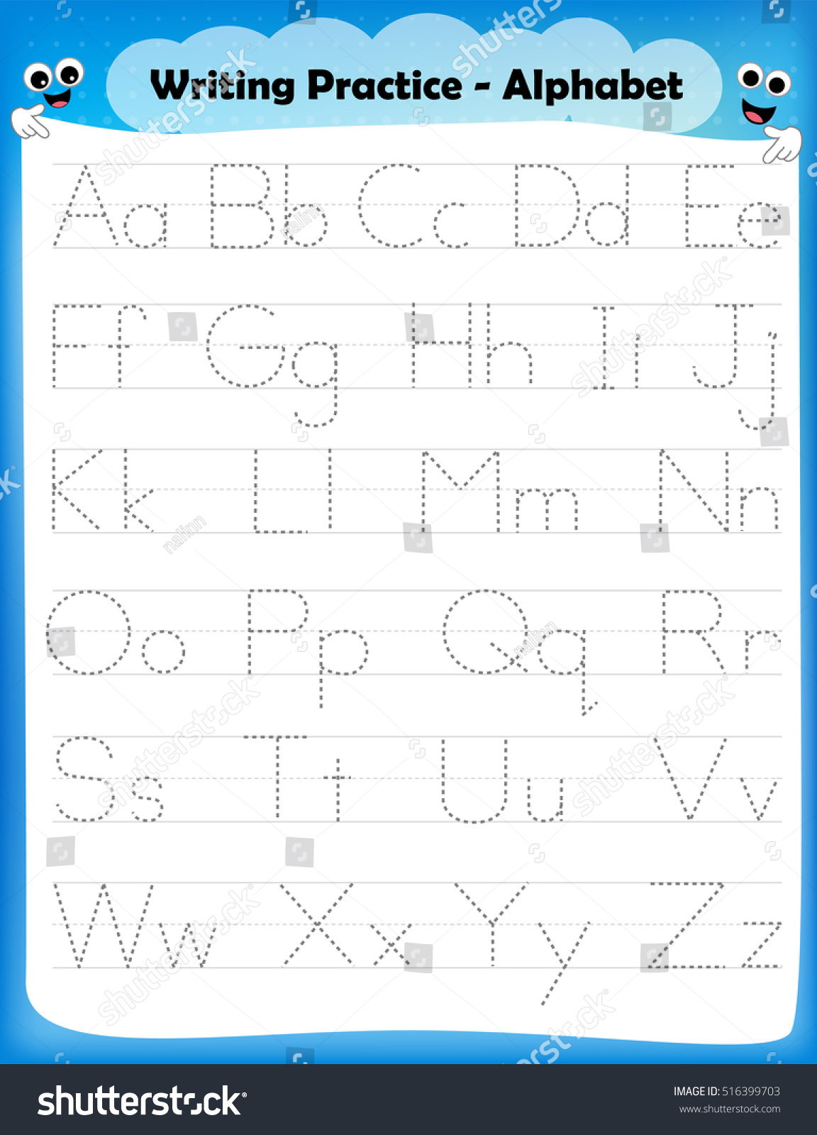 Letter P Writing Practice Worksheet