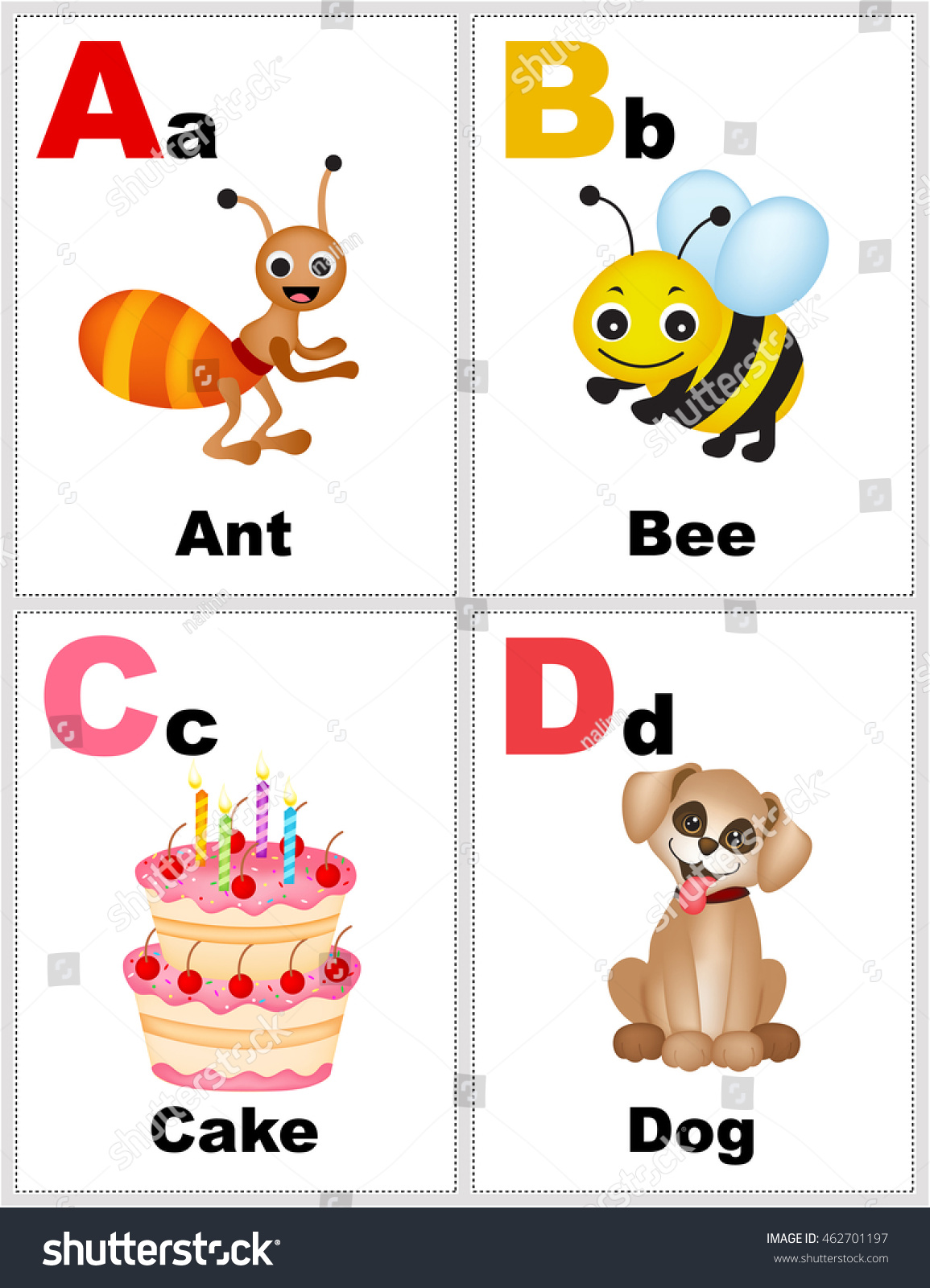 Alphabet Printable Flashcards Collection With Letter A B C