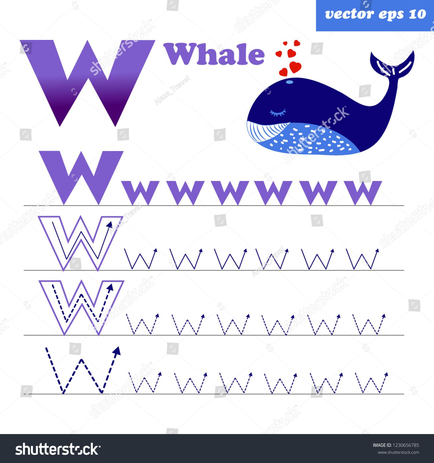 Preschool Worksheet Gallery Letter W Tracing Worksheets