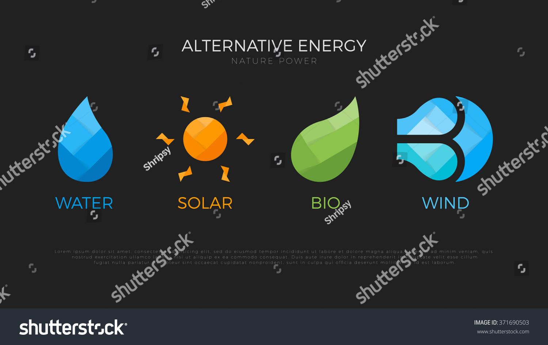 Alternative Energy Sources Logo Templates For Renewable