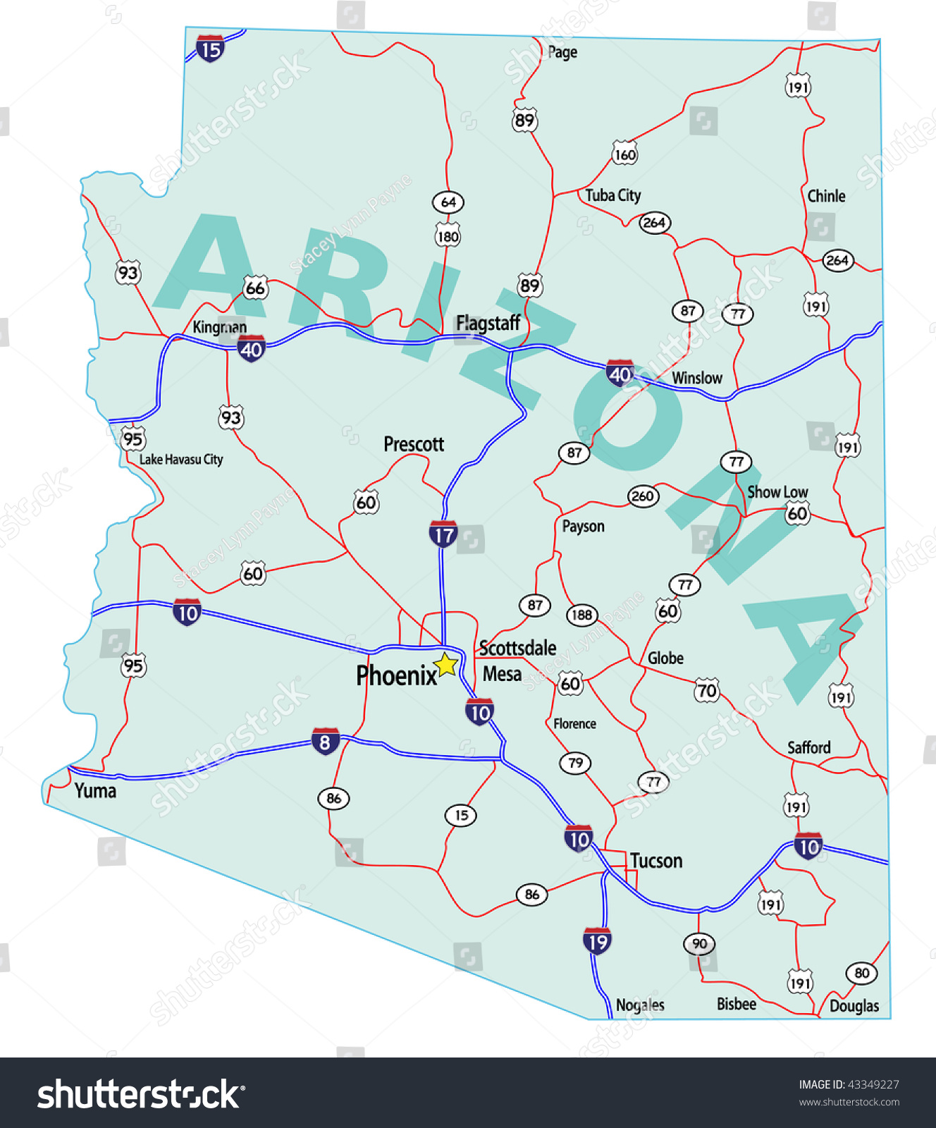 map with interstates