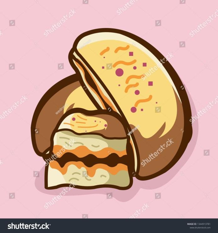 Bakery Vector Isolated Indonesian Food Martabak Stock Vector Royalty Free 1344913781