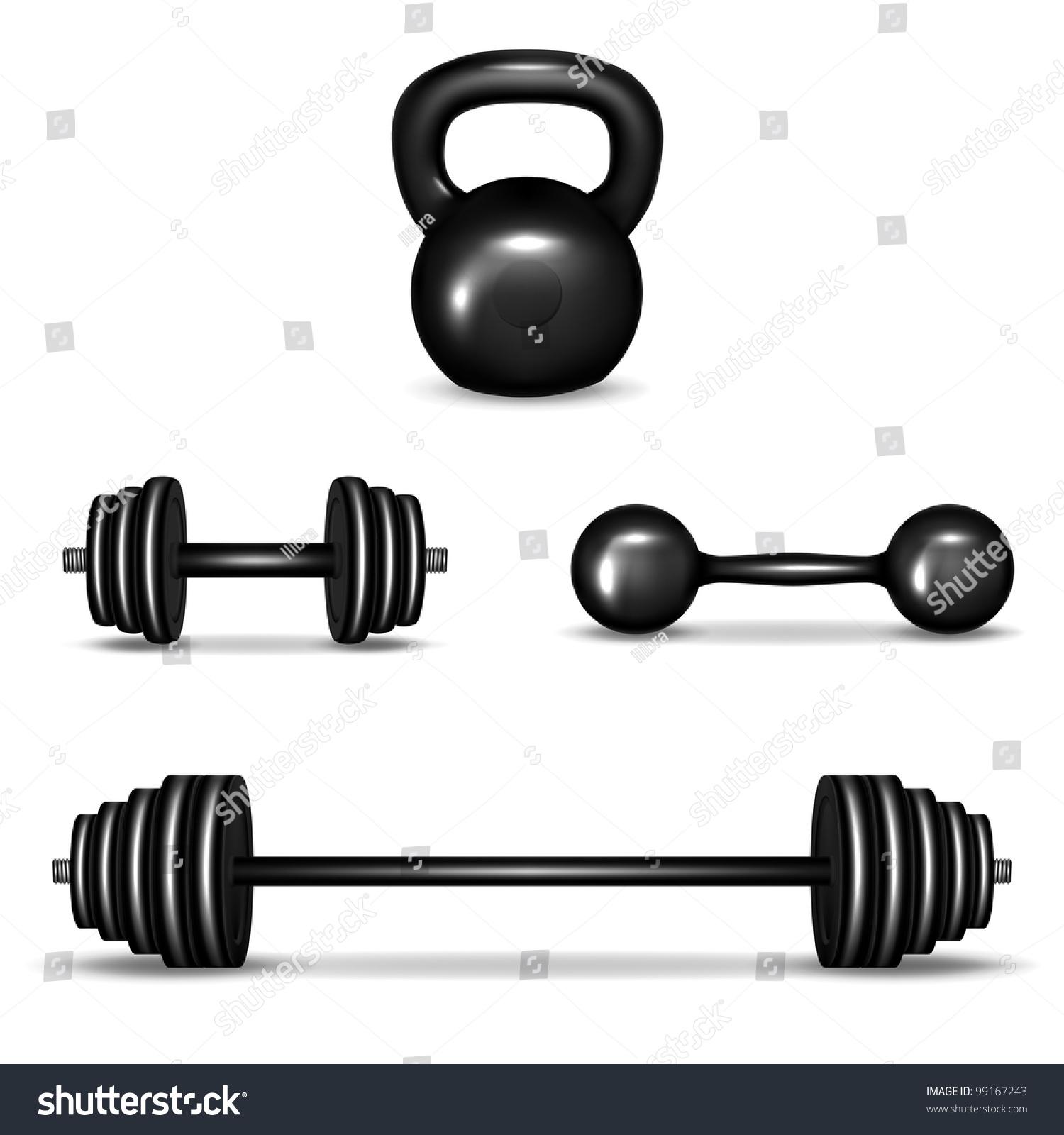 Weight Dumbbell Clip Art