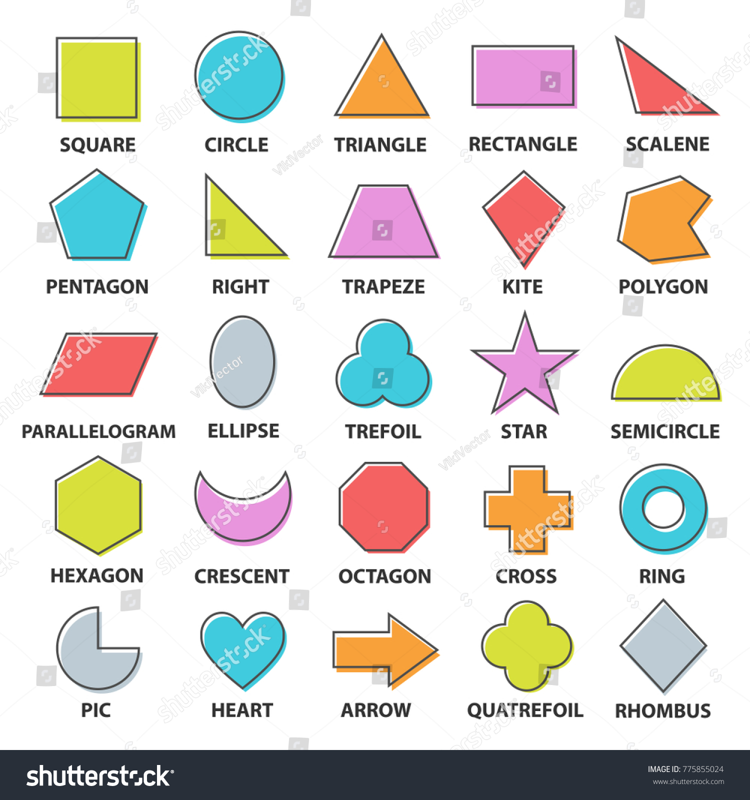 Shapes Worksheet Basic Household Items