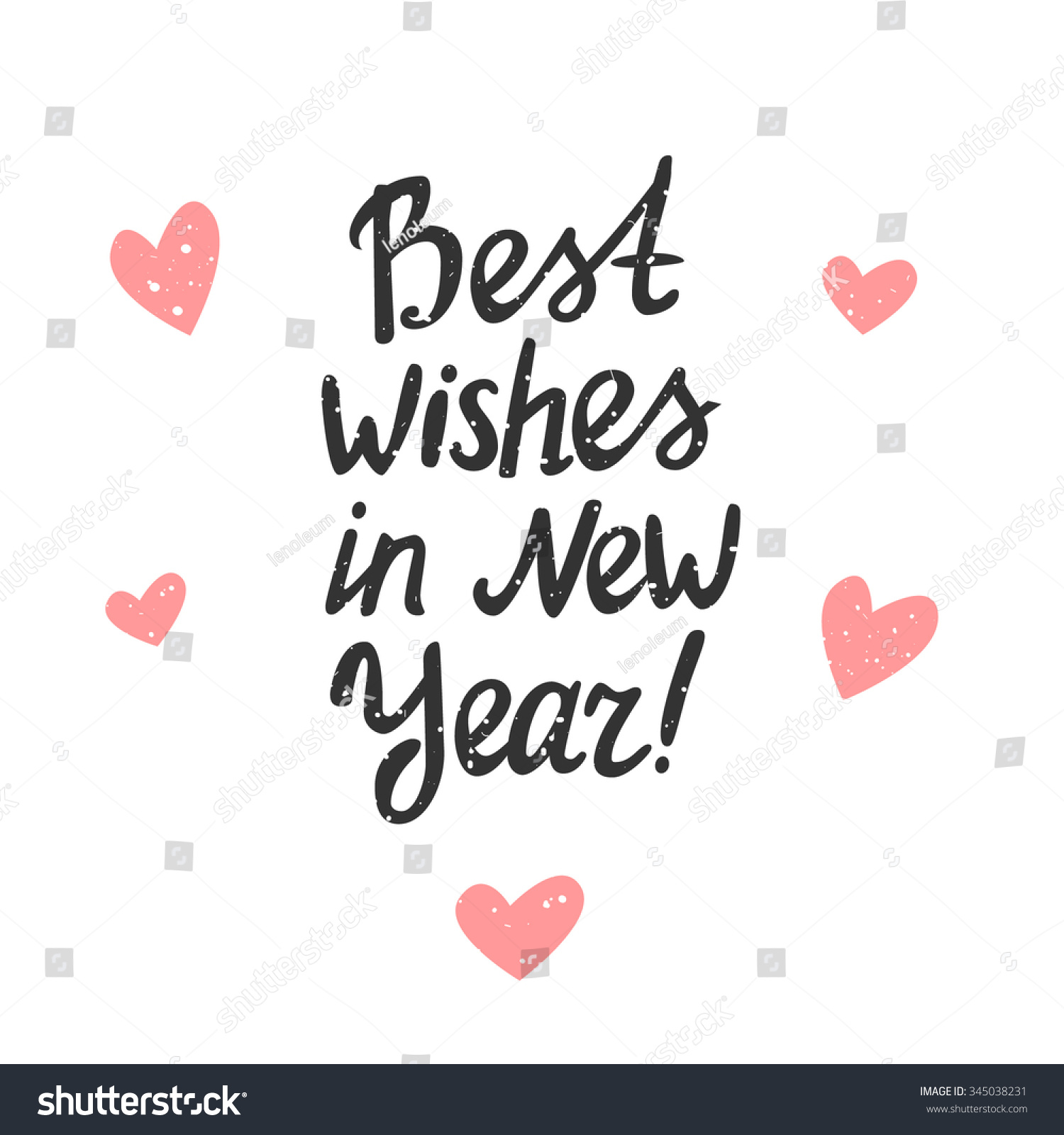 Best Wishes In New Year Vector Typography Poster With